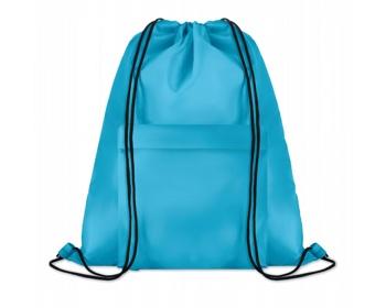 Náhled produktu Polyesterový stahovací batoh JOTTERS s přední kapsou - tyrkysová