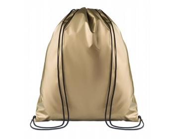 Náhled produktu Polyesterový metalický stahovací batoh ATONES - zlatá