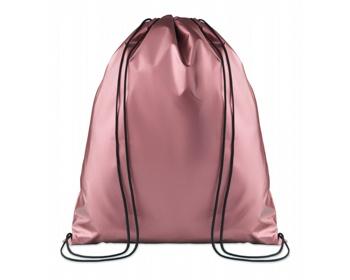 Náhled produktu Polyesterový metalický stahovací batoh ATONES - růžová