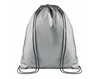Náhled produktu Polyesterový metalický stahovací batoh ATONES - stříbrná