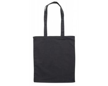 Náhled produktu Bavlněná nákupní taška BLAMING s dlouhými popruhy - černá