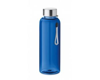 Náhled produktu Tritanová transparentní láhev na pití PEWTER s poutkem, 500 ml - královská modrá
