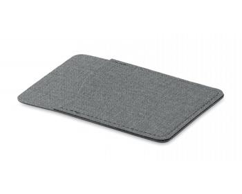 Náhled produktu Polyesterové pouzdro na kartu WEEDY s lepítkem na zadní straně - šedá