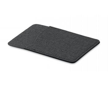Náhled produktu Polyesterové pouzdro na kartu WEEDY s lepítkem na zadní straně - černá