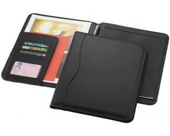 Náhled produktu Konferenční desky PAVED s poznámkovým blokem, formát A4 - černá
