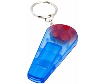 Náhled produktu Plastová píštalka REEDY s červeným LED světlem - transparentní modrá