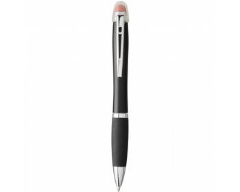 Náhled produktu Plastové kuličkové pero DORIS s podsvíceným gravírováním - oranžová