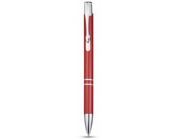 Náhled produktu Hliníkové kuličkové pero IRKS s klipem - červená