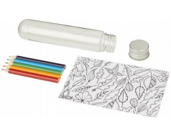 Náhled produktu Sada omalovánek a pastelek WKLY v tubě - transparentní čirá
