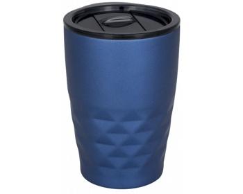 Náhled produktu Nerezový termohrnek SMOGGIER s geometrickým vzorem, 350 ml - modrá