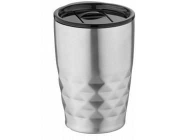 Náhled produktu Nerezový termohrnek SMOGGIER s geometrickým vzorem, 350 ml - stříbrná