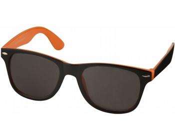 Náhled produktu Plastové sluneční brýle NGAIO v retro stylu - oranžová / černá