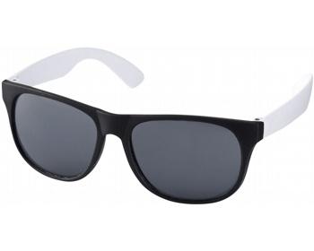 Náhled produktu Lehké plastové sluneční brýle BLOND v retro stylu - bílá / černá