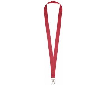 Náhled produktu Polyesterový lanyard COLLEGE s kovovou karabinkou - červená