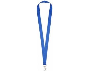 Náhled produktu Polyesterový lanyard COLLEGE s kovovou karabinkou - královská modrá