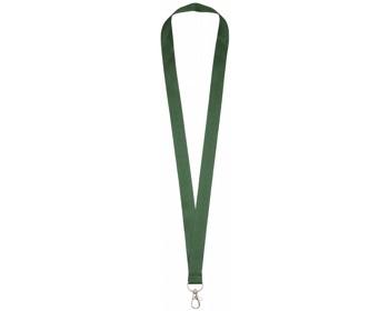 Náhled produktu Polyesterový lanyard COLLEGE s kovovou karabinkou - zelená