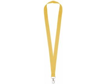 Náhled produktu Polyesterový lanyard COLLEGE s kovovou karabinkou - žlutá