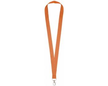 Náhled produktu Polyesterový lanyard COLLEGE s kovovou karabinkou - oranžová