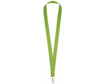 Náhled produktu Polyesterový lanyard COLLEGE s kovovou karabinkou - jemně zelená