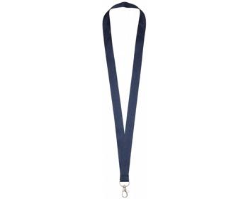 Náhled produktu Polyesterový lanyard COLLEGE s kovovou karabinkou - námořní modrá