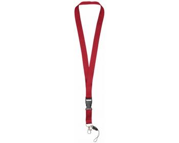 Náhled produktu Polyesterová klíčenka QUEEN s odepínací přezkou - červená