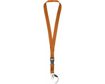 Náhled produktu Polyesterová klíčenka QUEEN s odepínací přezkou - oranžová