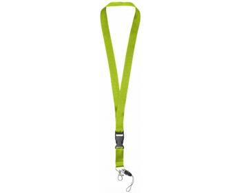 Náhled produktu Polyesterová klíčenka QUEEN s odepínací přezkou - jemně zelená