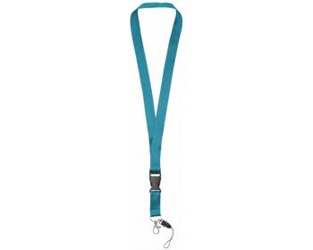 Náhled produktu Polyesterová klíčenka QUEEN s odepínací přezkou - modrá