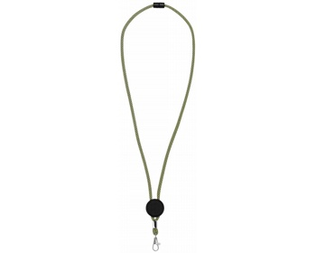 Náhled produktu Polyesterový nastavitelný lanyard DANCERS - jemně zelená / černá