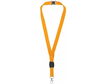 Náhled produktu Polyesterový lanyard IDENTITO s kovovou karabinkou - oranžová