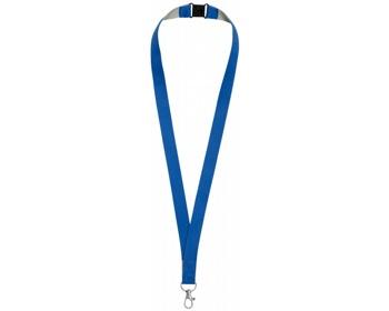 Náhled produktu Polyesterový lanyard LANYDOS s bezpečnostní sponou - královská modrá