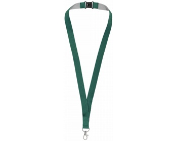 Náhled produktu Polyesterový lanyard LANYDOS s bezpečnostní sponou - zelená