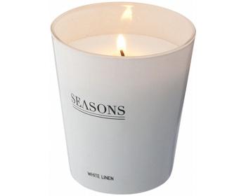 Náhled produktu Vonná skleněná svíčka Seasons LUNAR SCENTED CANDLE v dárkové kazetě - bílá