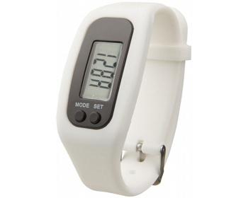 Náhled produktu Silikonové chytré hodinky CLAIM, 4 funkce - bílá