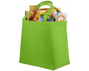 Náhled produktu Netkaná recyklovatelná nákupní taška WELT - jemně zelená