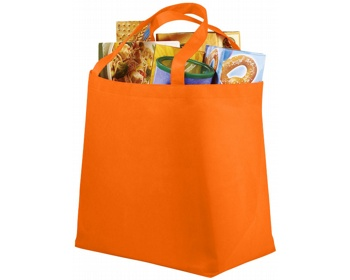 Náhled produktu Netkaná recyklovatelná nákupní taška WELT - oranžová