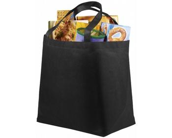 Náhled produktu Netkaná recyklovatelná nákupní taška WELT - černá