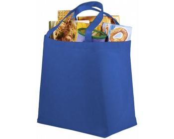 Náhled produktu Netkaná recyklovatelná nákupní taška WELT - modrá