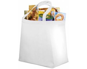 Náhled produktu Netkaná recyklovatelná nákupní taška WELT - bílá