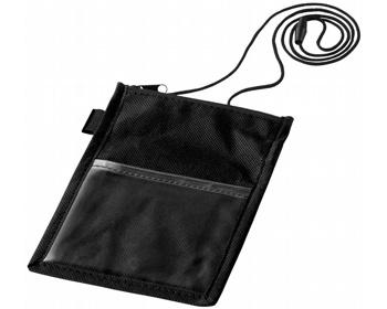Náhled produktu Průhledné pouzdro na jmenovku RABIC s poutkem - černá