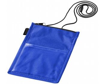 Náhled produktu Průhledné pouzdro na jmenovku RABIC s poutkem - modrá