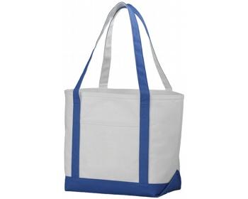 Náhled produktu Lodičková taška z hrubé bavlny FACTA - přírodní / královská modrá