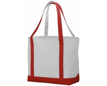 Náhled produktu Lodičková taška z hrubé bavlny FACTA - přírodní / červená