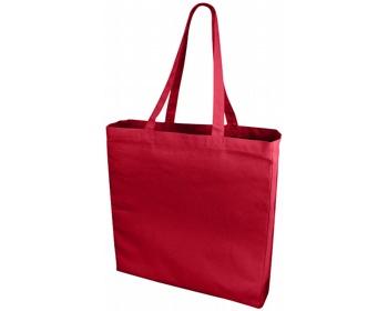 Náhled produktu Velká bavlněná taška PACED se zpevněným dnem - červená