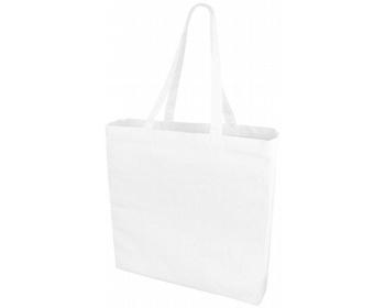 Náhled produktu Velká bavlněná taška PACED se zpevněným dnem - bílá