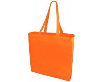 Náhled produktu Velká bavlněná taška PACED se zpevněným dnem - oranžová