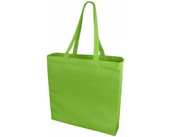 Náhled produktu Velká bavlněná taška PACED se zpevněným dnem - jemně zelená