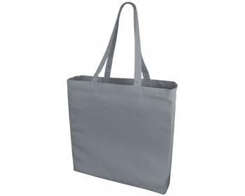 Náhled produktu Velká bavlněná taška PACED se zpevněným dnem - šedá