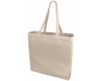 Náhled produktu Velká bavlněná taška PACED se zpevněným dnem - přírodní