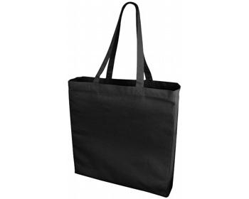 Náhled produktu Velká bavlněná taška PACED se zpevněným dnem - černá